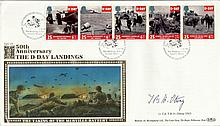 Benham 50th Anniversary of the D-Day Landings first day cover signed by Lt