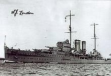 HMS Exeter Jack London genuine authentic signed autographs photo, A 20cm x