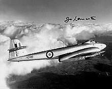 Jo Lancaster Test Pilot WW2 genuine signed authentic autograph photo, A 20c
