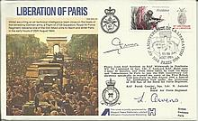 WW2 Escapers Liberation of Paris FDC dated 25-26 August 1984 signed by WW2