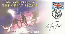 Great Escaper 60th Anniversary of the Great Escape cover signed by the late