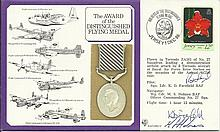 The Award of the Distinguished Flying Medal cover signed by Sqn. Ldr. K.D.