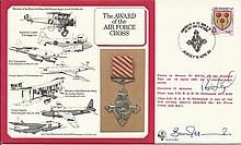 Rod Learoyd VC The Award of the Air Force Cross cover signed by Sqn. Ldr. B