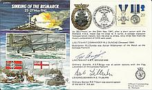 Ltnt A E P Briggs and Leading Seaman Tilburn signed JS50/41/5 Sinking of th
