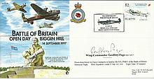 Wg Commander Geoffrey Page signed Battle of Britain open day Biggin Hill FD