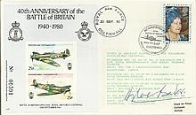 Douglas Bader 40th Anniversary of the Battle of Britain 1940-1980 cover. Sc