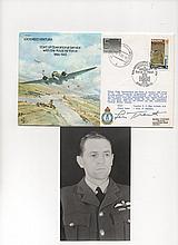 Sqn Ldr Len H Trent VC Signed RAF B36  Lockheed Ventura Start of  RAF Opera