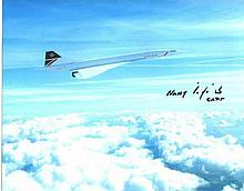 Harry Linfield 8x10 inch photo signed by Concorde