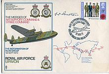 RAF Escaper RAF Upavon cover signed by Air Marshal