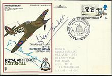 Sir Douglas Bader, Sir Tom Sopwith double Signed