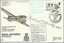 Arthur Harris signed SC32 RAF Benson Dakota cover