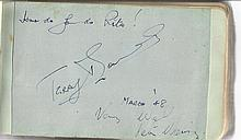 Terry Thomas signed vintage autograph album page,