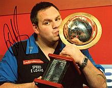 Adrian Lewis 8x10 photo signed by Darts star
