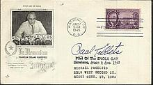 Paul Tibbets signed 1945 Franklin Roosevelt