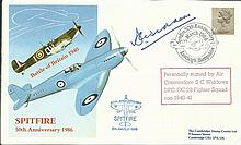 Air Cdre S Widdows DFC OC 29 Sqn BOB signed 1986