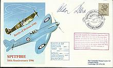 Air Cdr Alan Deere DSO DFC BOB ace signed 1986