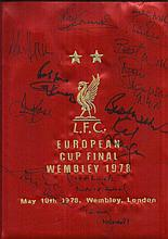 Liverpool FC multi signed 1978 European Cup final
