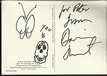 Damien Hirst signed to 6 x 4 colour Picasso