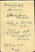 South African 1950s political autographs vintage