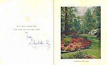 Queen Elizabeth The Queen Mother Signed Card
