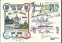 Liverpool FC multi-signed 1986 Everton v Liverpool