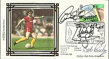 Bob Paisley Liverpool Multi-signed 1984 Benham
