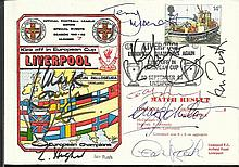 Liverpool FC multi-signed 1981 Liverpool cover for