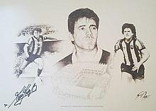 Kevin Keegan signed limited edition print of 34 of