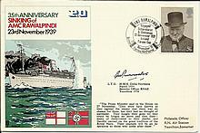 Navy VIP signed cover RNSC17 35th anniv Sinking of AMC Rawalpindi cover sig
