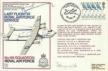 Kyosti Karhila signed Last Flight in Royal Air Force Service cover dated 20