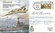 Bill Edrich signed Bristol Blenheim bomber cover, also famous England Crick