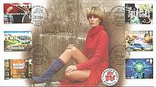 Joanna Lumley autographed Avengers first day cover.  Good condition. All si