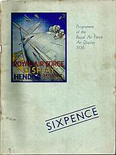 Vintage RAF Air Display Programmes Collection. Lovely collection of 8 RAF p