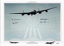 Dambusters Multisigned photo. A large 16