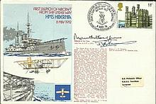 Mountbatten of Burma signed official Navy cover HMS Hibernia comm. the 1st
