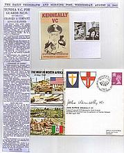 John Kenneally VC WWII Series. War in North Africa 13 May 1943.  Signed by
