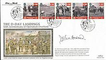 Major John Howard DSO signed Benham Official 1994 D-Day FDC comm. The raid