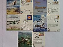 WW2 Bomber VIP signed covers five cover Fairey