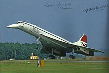Concorde signed photo collection three photos