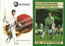 Leicestershire Cricket Year Books, 9 in total ,