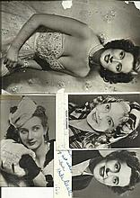 Vintage Actresses signed photo collection.