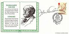 John Le Carre signed Thomas Hardy FDC. Excellent
