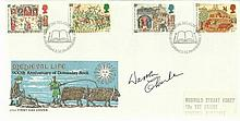 Warren Clarke actor signed 1986 Medieval Life FDC