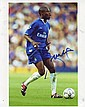 William Gallas signed 10 x 8 colour Chelsea football action photo
