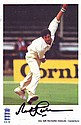Sir Richard Hadlee  signed 6 x 4 colour ECB cricket action bowling photo