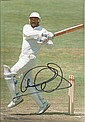 Graham Gooch signed 12 c 8 colour cricket batting action photo