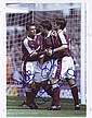Frank Lampard, Paul Kitson & Steve Potts signed 10 x 8 colour West Ham football action photo