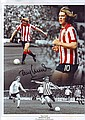 Tony Currie signed 12 x 8 Sheffield Utd montage football phot
