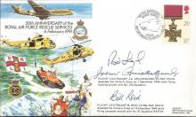Learoyd, Cruickshank and Reid VC signed cover. 50t
