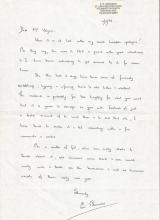Battle of Britain veteran Eric Edmunds signed lett
